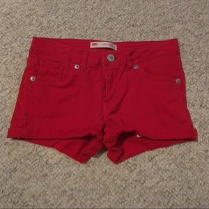 Girls Red Levi's Denim Shorts